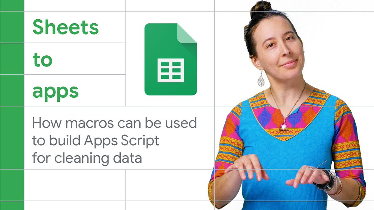 Cleaning up data from downloaded reports takes up time and resources 🧾🗑   @TechandEco demonstrates how to add automation to monthly exports converted to Sheets, that records your steps into a script that you can repeatedly run!    More Sheets to Apps → https://t.co/7jF0gAoDE6 https://t.co/FNQjRepJGJ