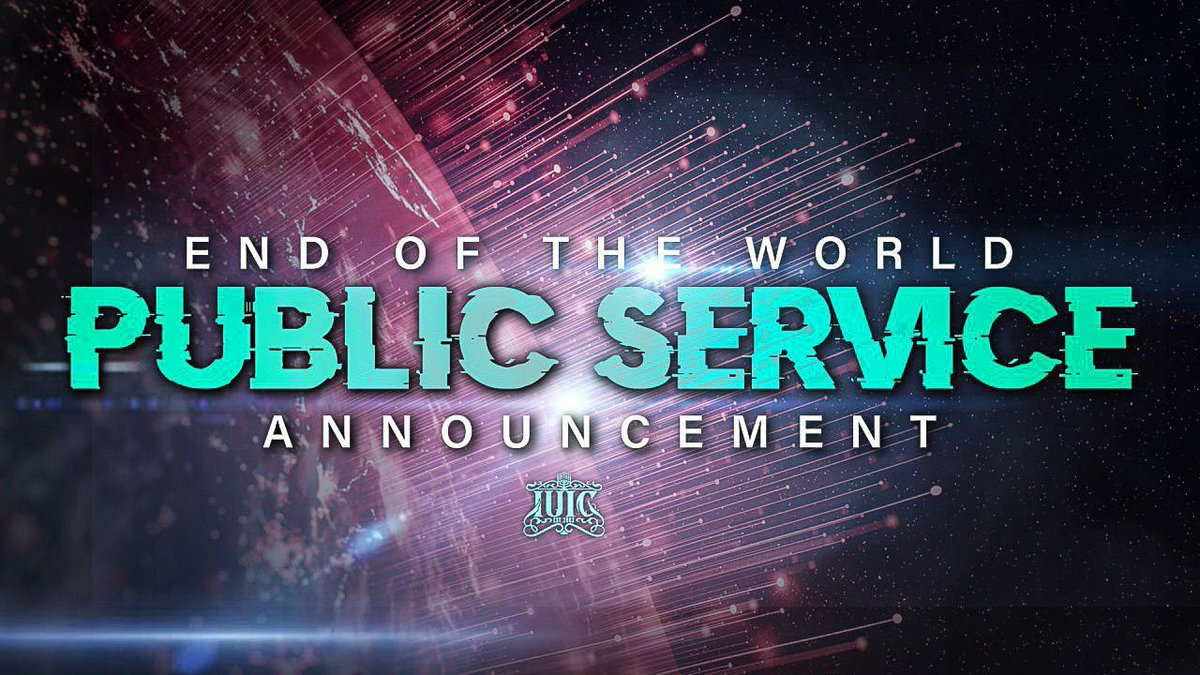 #BishopNathanyel has an #EndofTheWorld #PublicServiceAnnouncement! Tune in only on the #IUIC #Events #Youtube Channel to hear the words of the #Prophets!!  Video - https://t.co/J6a1ukH1RY  @NickCannon #SanDiego https://t.co/xD6VoMgZYf