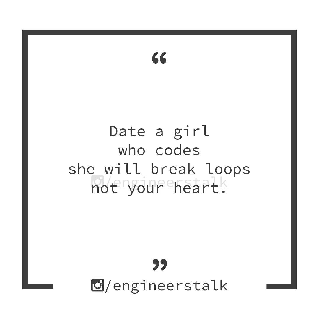 Are you dating any one? #engineerstalk #date #girl #womenintech #100DaysOfCode #CodeNewbie #python #programmer #javascript #technology #techwomen #girlwhocode #retweet #code https://t.co/de5XB0qI1l