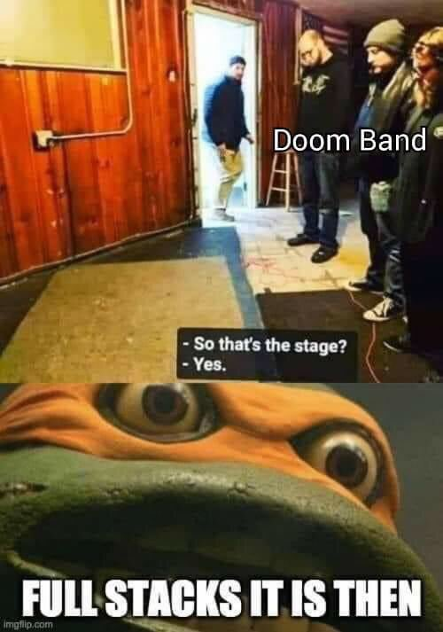 Have you ever crept through the crumbling passages of the backline for a five band bill? #metalmemes #metalmeme #doommetal #doommetalmeme #doommetalmemes #doomband #doommetalband #fullstack #amplifierworship #loudampssavelives #bandmeme #bandmemes #cowabungaitispic.twitter.com/gdK3cVqzYc