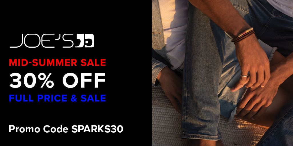 Now's the time to shop for items you still need. Get 30% off full price & sale items for the long weekend with promo code SPARKS30. Shop Now: https://t.co/XMB380cm9t https://t.co/n2kZuZmbhH