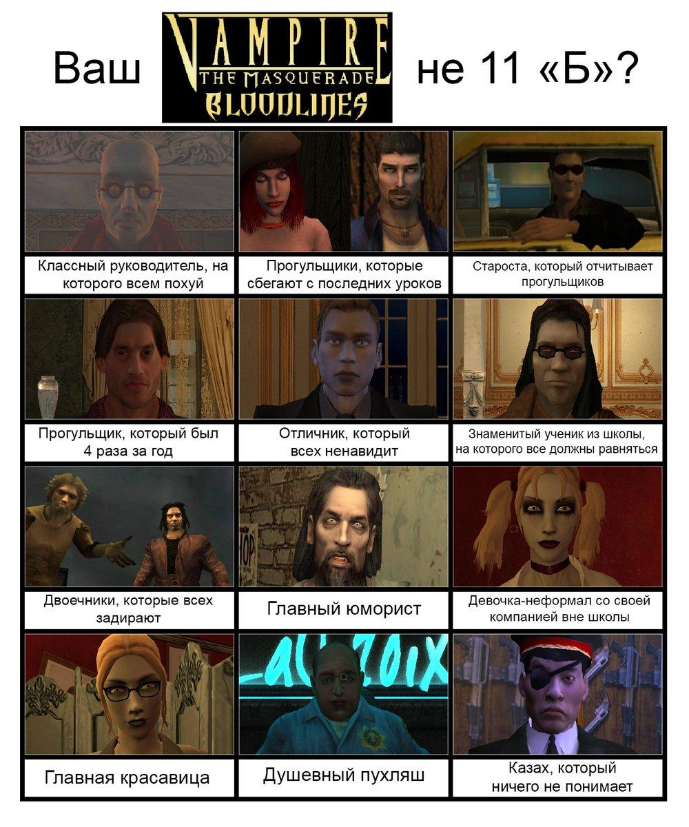 Я не могу перестать орать с этого шаблона для мемов, поэтому сделал свой #bloodlines #VampireTheMasqueradeBloodlines