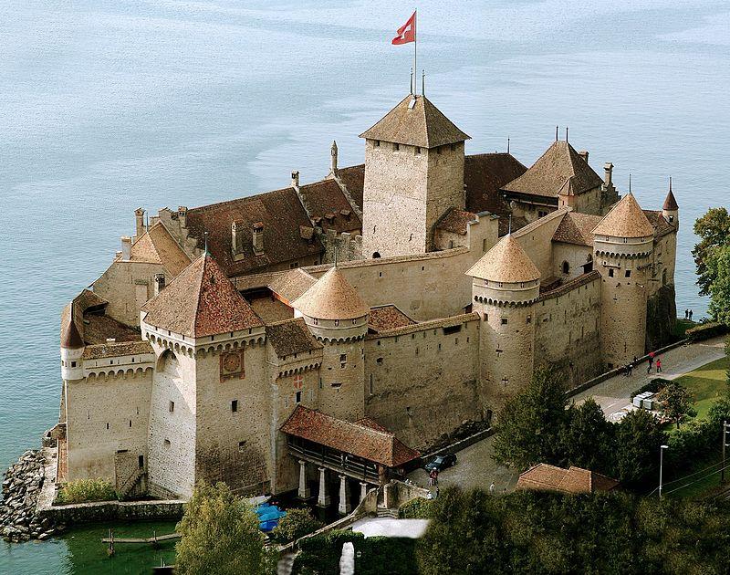 Chillon Castle, Lake Geneva, Switzerland!  From 1266! <br>http://pic.twitter.com/PZwPigtaT2