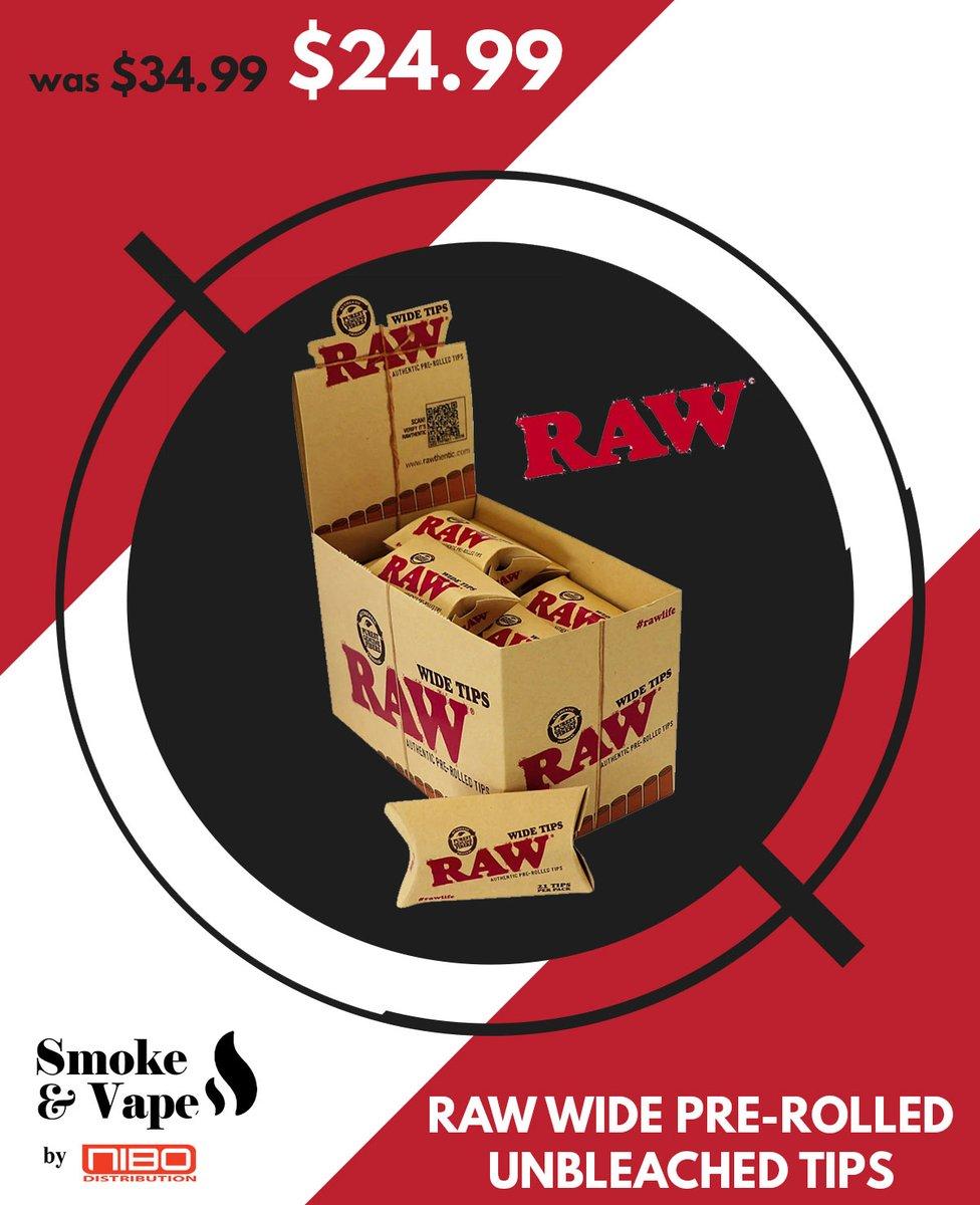 RAW WIDE PRE-ROLLED UNBLEACHED TIPS  https://t.co/qCE6xmOANt  #RawTubes #raw_rolling #tray #rawtray #smokeVape #smoking_accessory #rawtraymini #mini #mini_tray #canada #smoking #vaping #smokefans #vape #toronto_smoke_accessory https://t.co/dVIDBEM74I