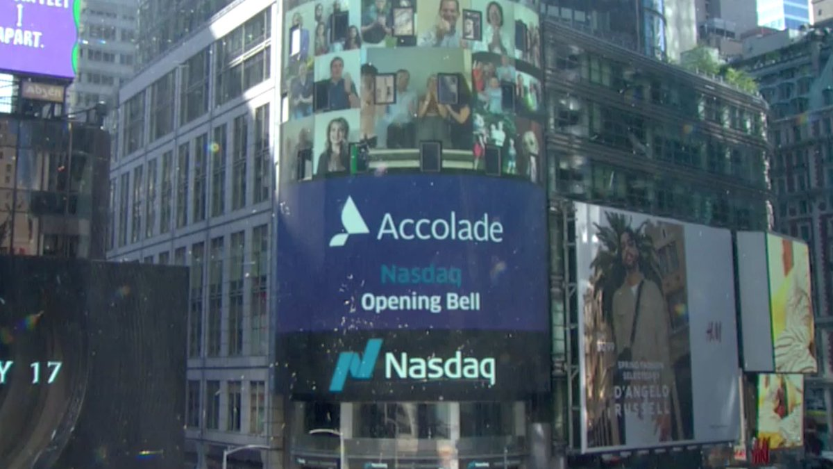 IPO ALERT. Congratulations to AVG portfolio company (led by @BlueIvyVentures) @Accolade celebrating its IPO by ringing the virtual opening bell on the @Nasdaq this morning! https://t.co/657clE1Bfw https://t.co/lJrc5jGGUs
