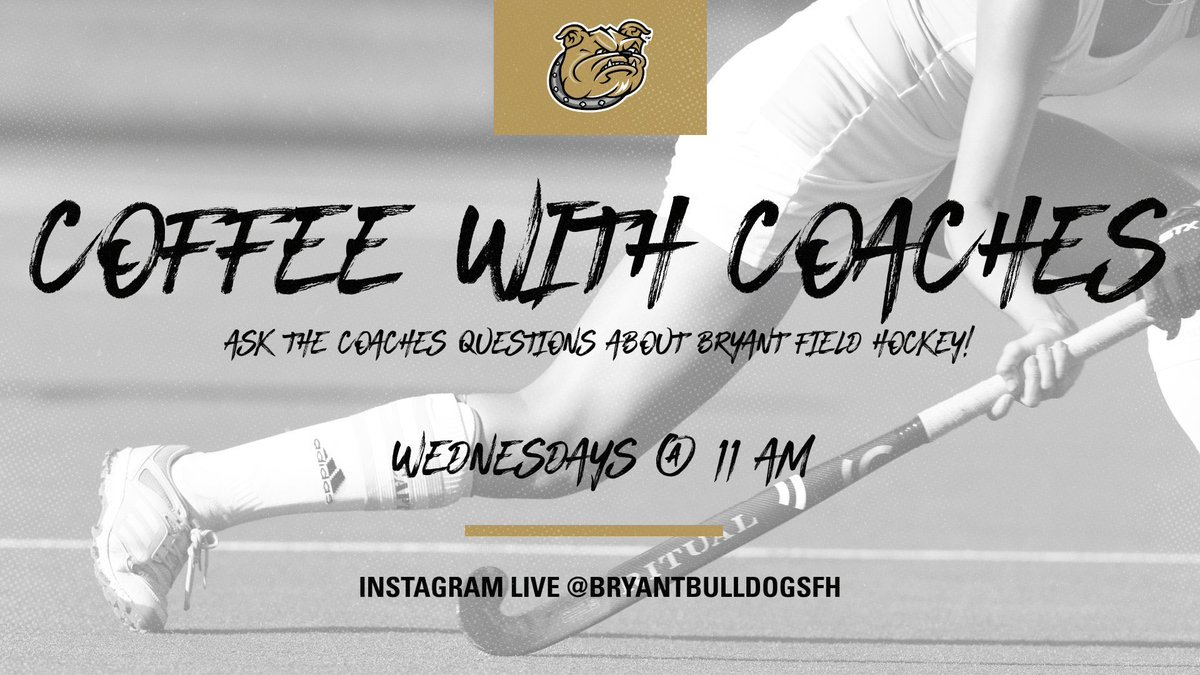 We're backkkkkk!   Coffee with Coaches is back on Instagram Live this Wednesday at 11am! Submit your questions using the link below and be sure to tune in to hear the answer.   https://t.co/tLc6txf47L   #WeAreBryant https://t.co/HKys2l9Ir5