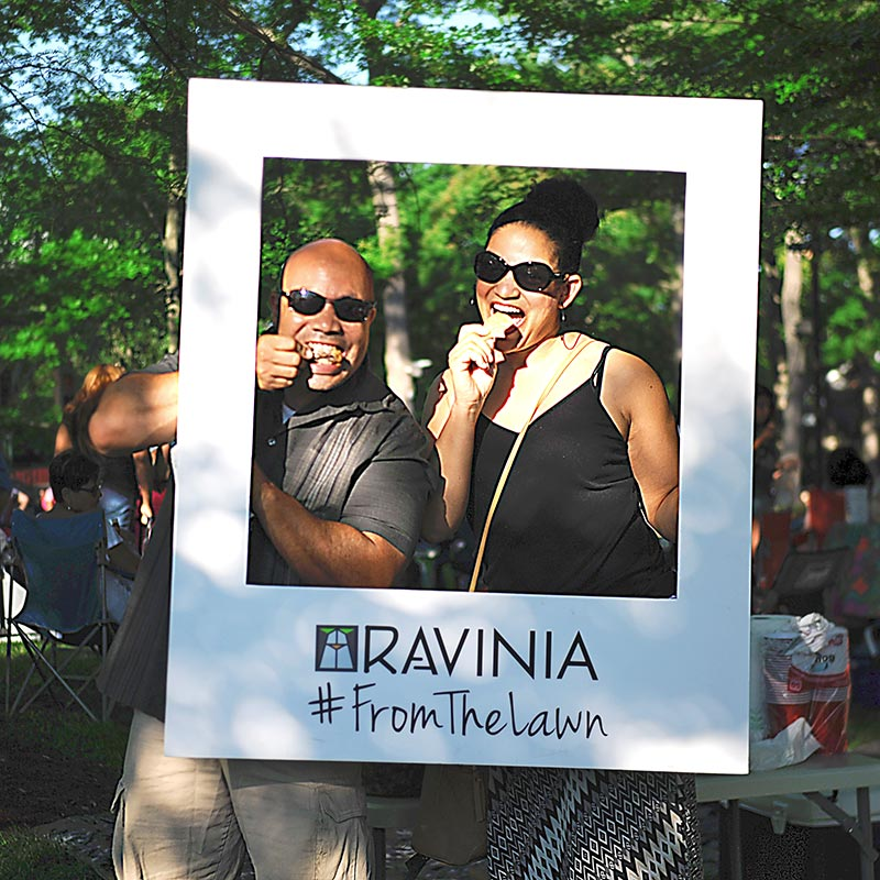 """Food is better on the Lawn!"" —Alex and Paulina July 8, 2017 