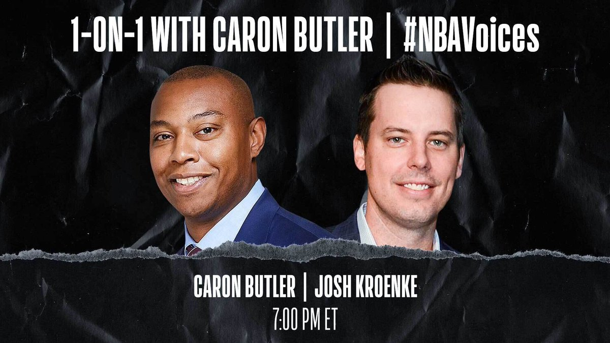 Tune in tonight at 7:00 PM ET on @NBA as Caron Butler (@realtuffjuice) sits down 1-on-1 with @Nuggets President and Governor Josh Kroenke to discuss systemic racism and police brutality. #NBAVoices https://t.co/FP1RICIi7Q