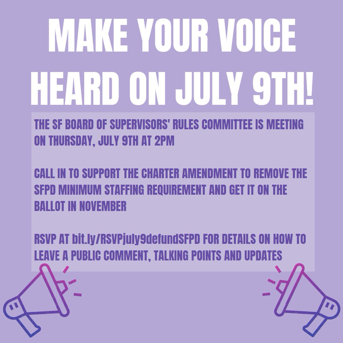 Defundsfpdnow Di Twitter Alert Schedule Change Two Public Comments Next Week Rsvp Now Talking Points Linked On Fbook July 8 About Sfpd Budget Https T Co 4kublatv7h July 9 About Sfpd Staffing Moved From July