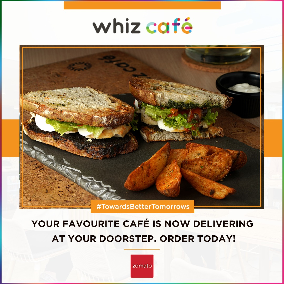 Enjoy in the comforts of your home. Order via Zomato! https://bit.ly/2COH58l . . . #WhizCafe #WhizCafeDelivers #Order #FoodDelivery #OnlineFoodDelivery #GoodFood #HealthyFood #Hygiene #CafeinDelhi #StayAtHome #DelhiDiaries #Prevention #SocialDistancingpic.twitter.com/pJepmADL0w