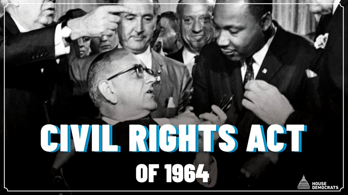 56 years ago today, President Lyndon Johnson signed the #CivilRightsAct, outlawing discrimination based on race, sex, religion, and national origin. As we honor this progress and those who fought for it, we continue to strive for a more equal and just nation. https://t.co/lWz5qBHmhM