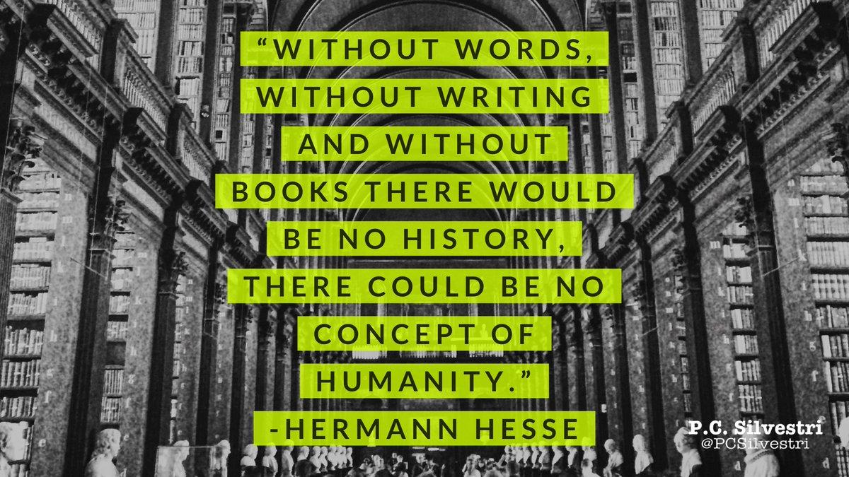 Hermann Hesse #amwriting #amediting #amreading #writing #editing #reading #fiction #storytelling #writingtips #writerslife #writinghabitpic.twitter.com/2aFulgJxrY  by P.C. Silvestri