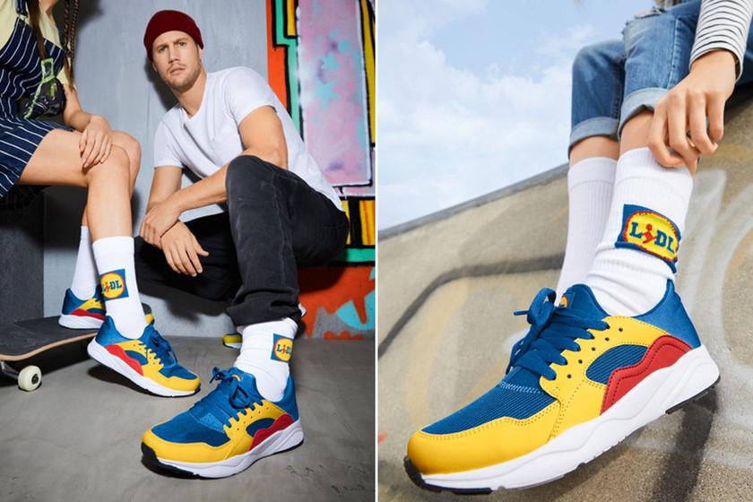 Lidl ha lanzado una línea de ropa con su logo y colores. Ha sido un éxito inmediato, una locura. Las zapatillas (15€) se han agotado en todas las tiendas de Europa tras provocar caos y largas colas al punto de la mañana. Ya se revenden a 500€. https://t.co/9P4R9nyM0e https://t.co/1keAIk9rgY