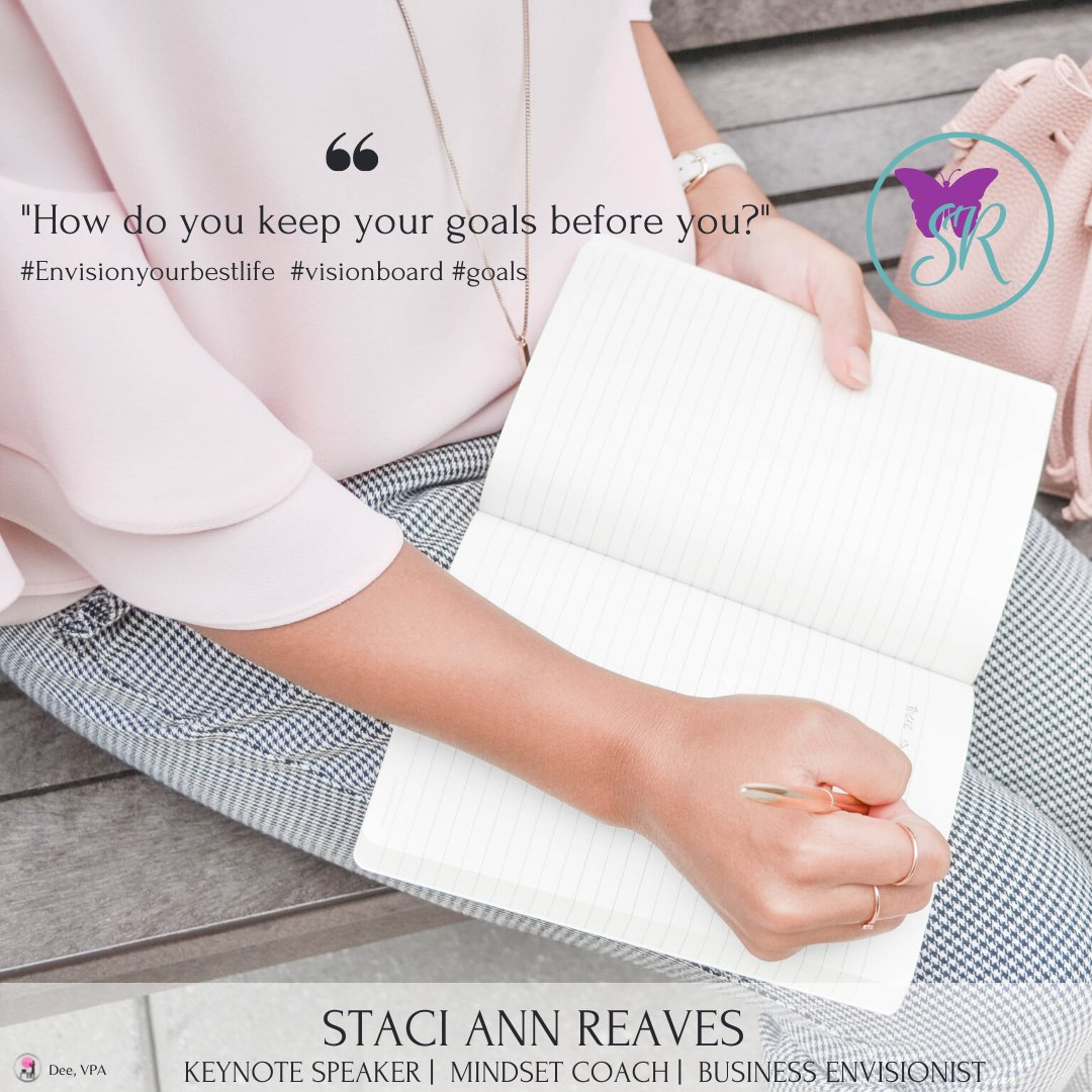 How do you keep your goals before  you?  Do you keep a journal or a vision board? Whichever method works for you is perfectly fine as long as you are using something.   #millionairemindset #businessideas #businessstrategy #smallbusinesscoach #smallbusiness #smallbusinesstips https://t.co/jVw7HVCDo2