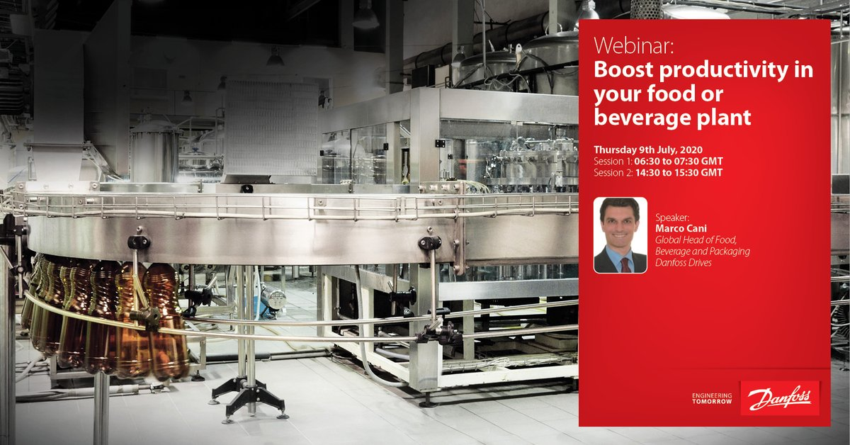 Use the #IoT to boost productivity in your food, beverage and packaging applications. Join our free webinar on July 9 to learn more:  Session 1: 06:30 to 07:30 GMT https://t.co/QWXPUHggK0 Session 2: 14:30 to 15:30 GMT https://t.co/1ulwB6ydWF  #EnergyEfficiency #VLT #VACON https://t.co/Ua9lR2ufhO