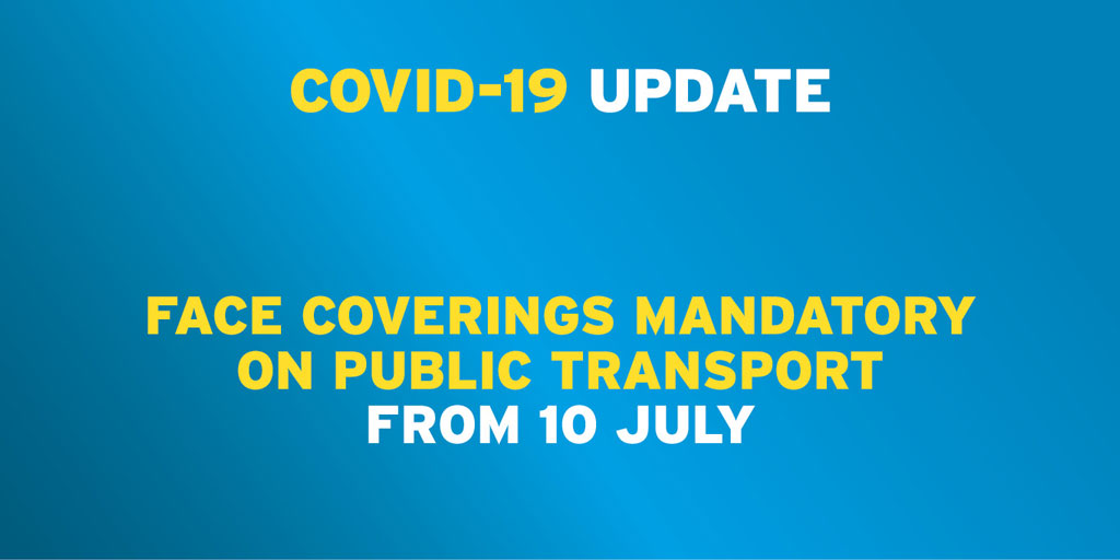 Minister @NicholaMallon has announced that face coverings will be mandatory on public transport from Friday 10 July as part of the recovery process from Covid-19. https://t.co/QBX2pGAzK6 https://t.co/OuDKEPjMIA
