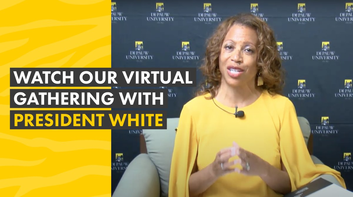 Miss yesterday's live gathering with President White? Get to know the values and vision she brings to DePauw:https://t.co/x8mwgyea8J https://t.co/9N4BmQ0Vuc
