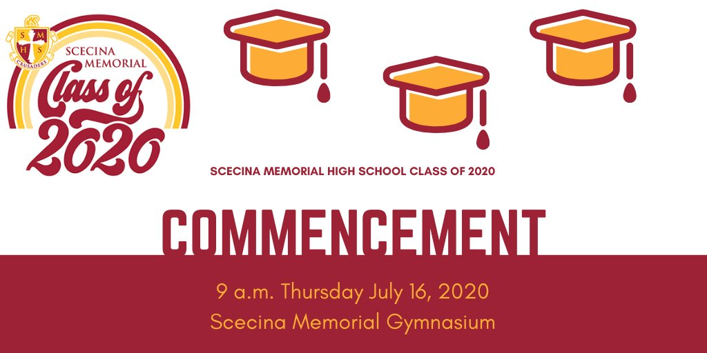 Two weeks from today! Looking forward to the in-person Commencement celebration at Scecina on July 16.  🎓🙌  #Classof2020 https://t.co/2ZYVQKSAM3