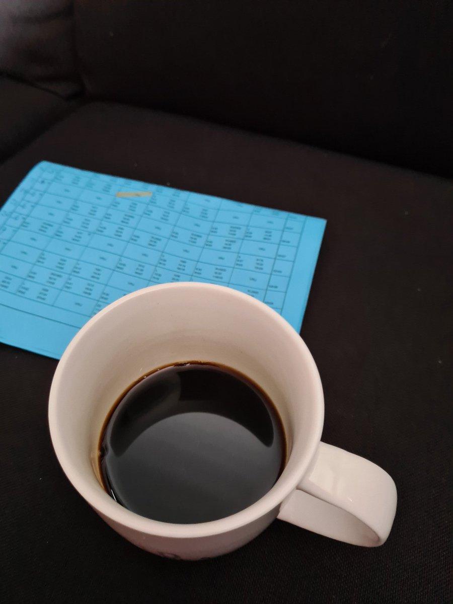 Met een heerlijke bak zwarte koffie..even mijn rooster uitpluizen !!Home sweet home https://t.co/zK8HHFPujm