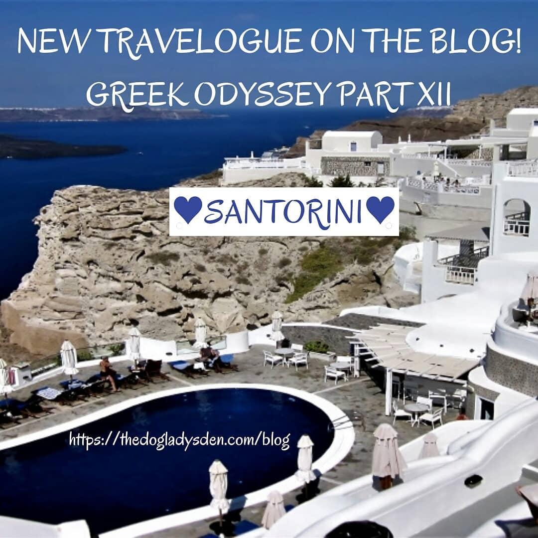 NEW TRAVELOGUE ON THE BLOG! #dogladysden #traveladdict #photographer      Come with me to Sensational, Spectacular, Scenic, Seductive, Splendiferous Santorini! https://thedogladysden.com/blog Clickable links in bio. Ancient History, Architecture,… http://dlvr.it/RZpjlPpic.twitter.com/Bti9qwi5YP