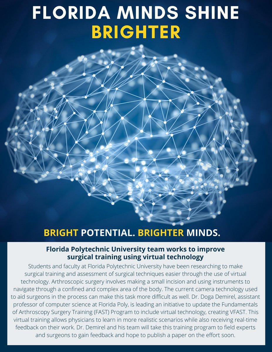 #FloridaMindsShineBrighter @FLPolyU team works to improve surgical training using virtual technology