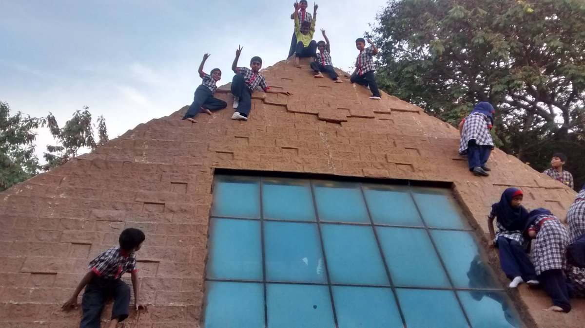 Yay! We have conquered the #Pyramids! 😄🥳😄  Our students are very enthusiastic towards any type of adventurous activity.  Admissions to Ideal Int School are Open.  #bestschool #bestschoolintolichowki #hyderabad #adventure  #funschooling #fitkids #covid19 #stayhome #StaySafe https://t.co/Q5dhjw9P8b