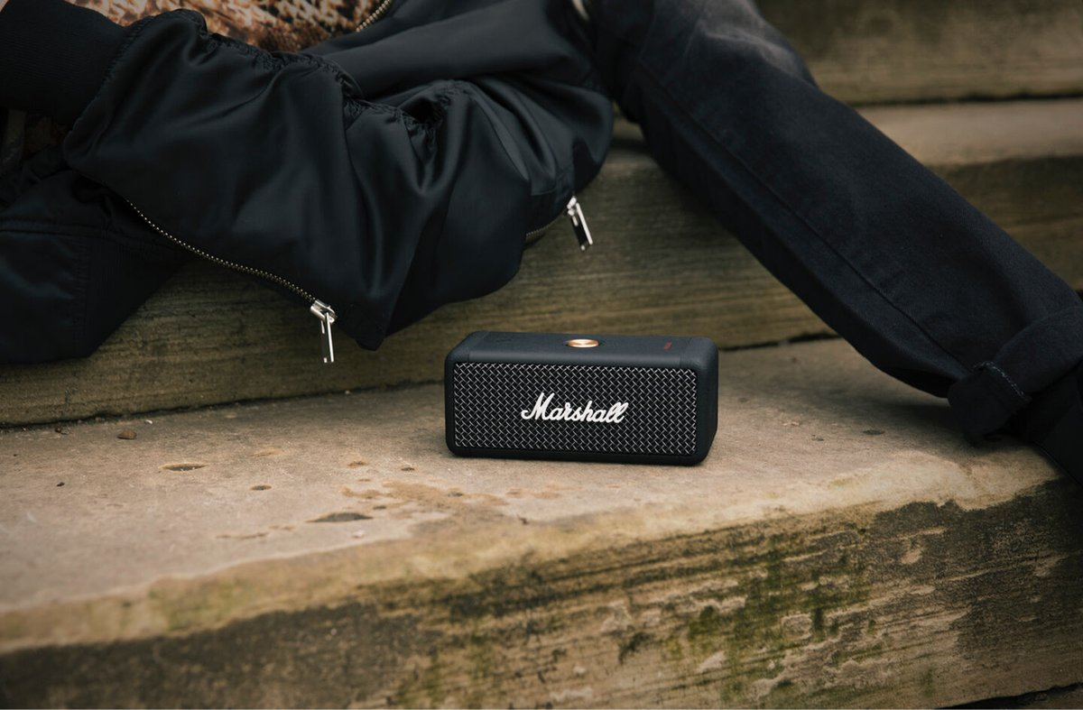 Another first class audio accessory from the guys at @marshallamps with the Emberton Bluetooth Speaker:  >> https://t.co/OgnMknxowp <<  #audiophile https://t.co/Zf1d5hW24x