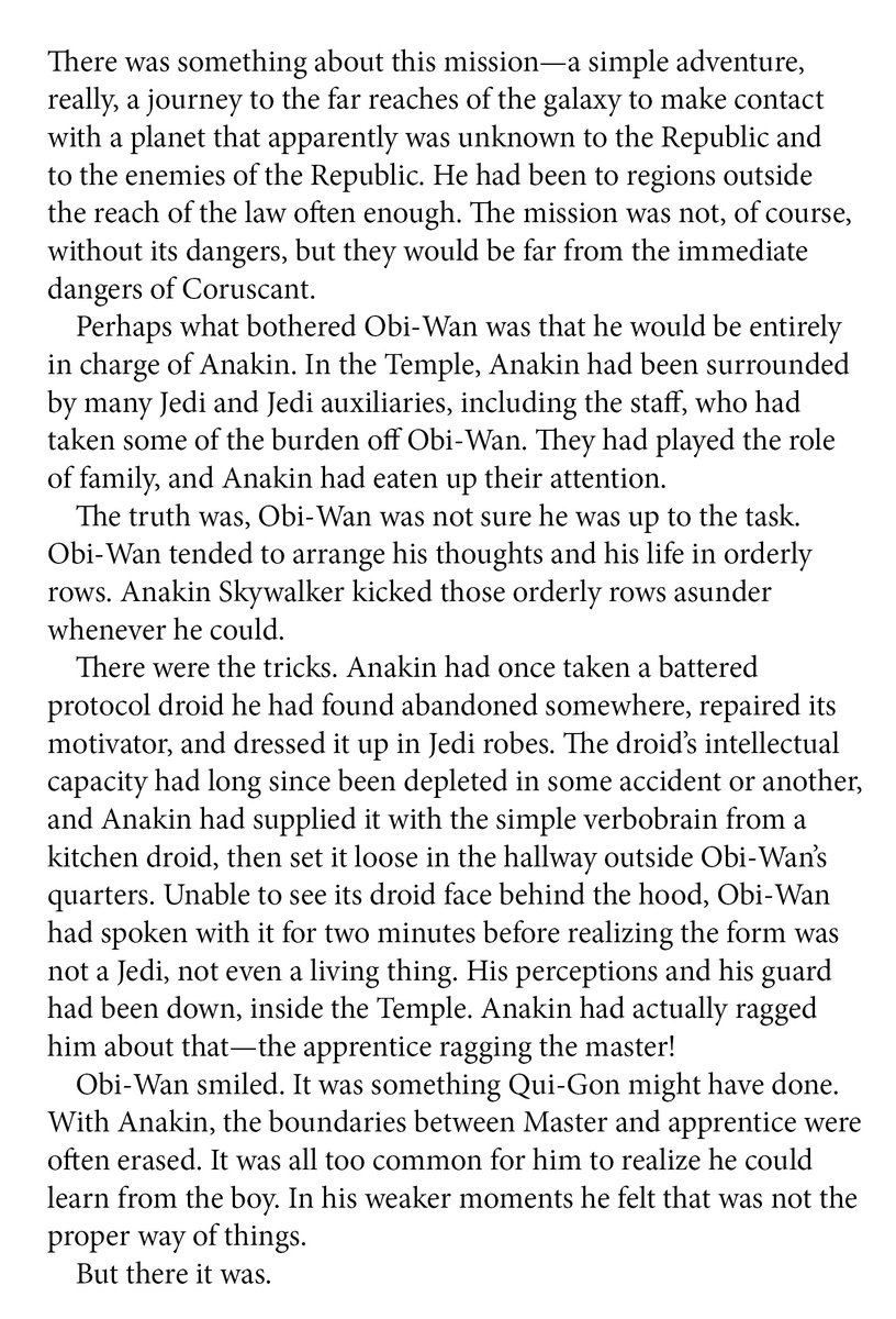 """""""With Anakin, the boundaries between Master and apprentice were often erased. It was all too common for him to realize he could learn from the boy.""""  Rogue Planet by Greg Bear  #BookQuoteoftheDay #ObiWanKenobi #AnakinSkywalker<br>http://pic.twitter.com/R7bRD0T5HW"""