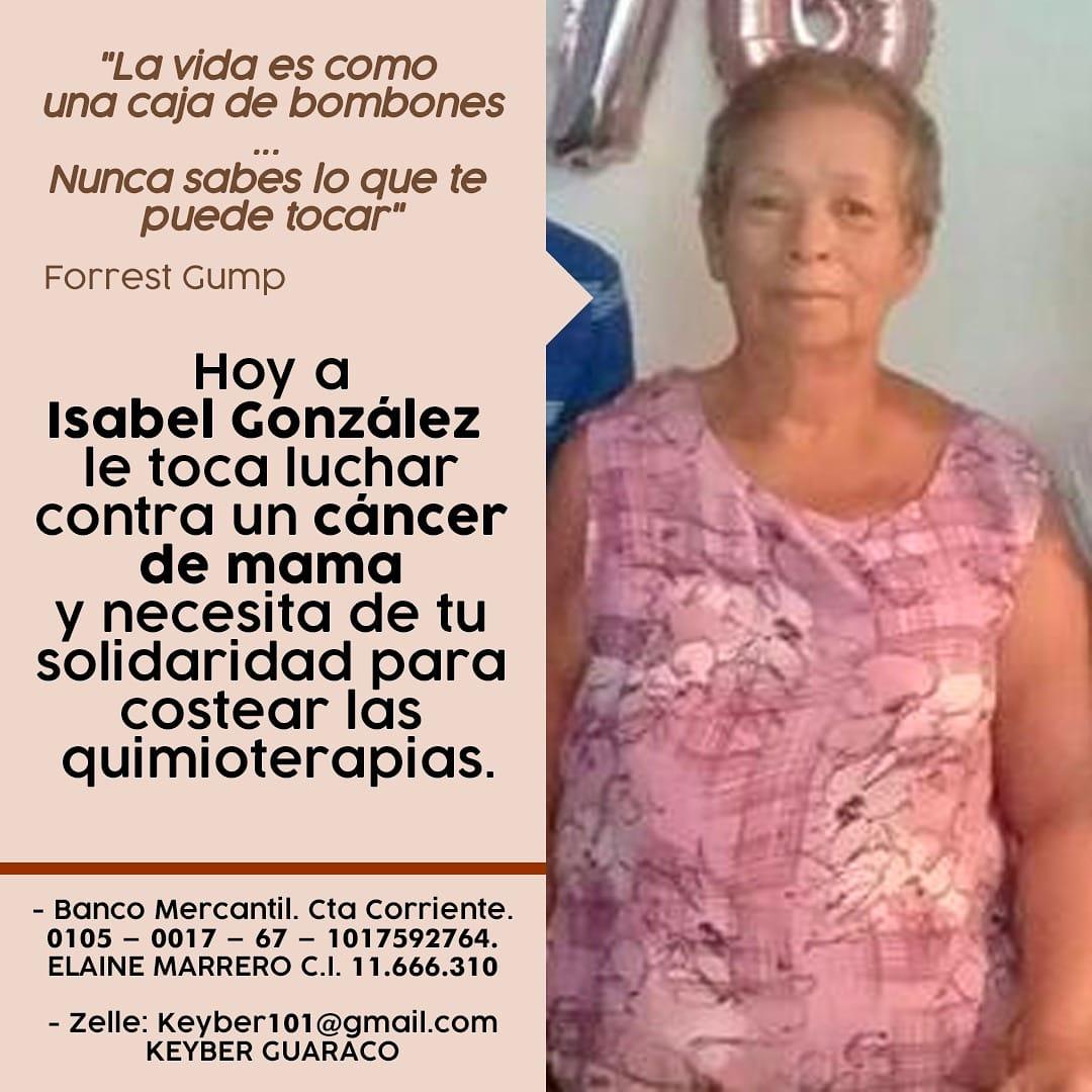La mamá de la periodista @elainemarrero necesita de nuestra solidaridad para afrontar la enfermedad. Aquí los datos para quienes puedan hacer un aporte. Gracias de antemano https://t.co/R93lCvAE8A