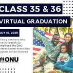 Image for the Tweet beginning: Classes 35 & 36 Virtual