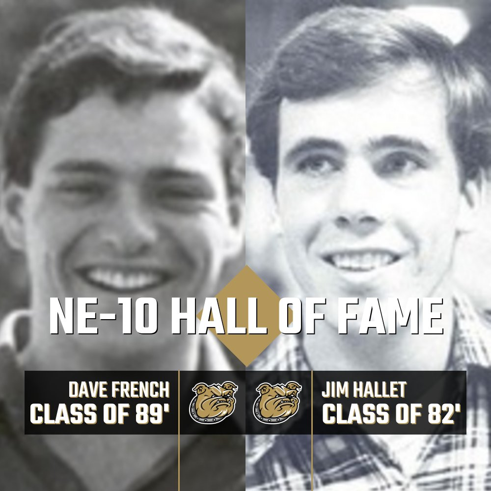 #TBT  Bryant University Hall of Famers Dave French and Jim Hallet are also members of the NE-10 Hall of Fame.  Hallet was induced in 2006 and French was inducted in 2007. https://t.co/R5l7NGrjw8