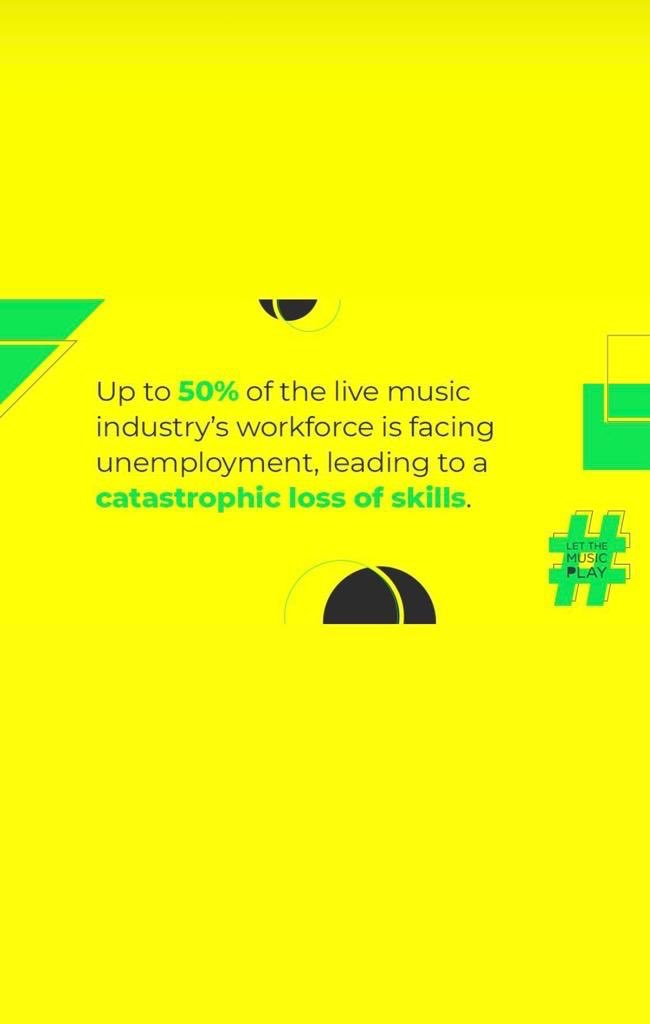 Imagine a world without live music. #LetTheMusicPlay 💛 https://t.co/pmwkXcsPm6