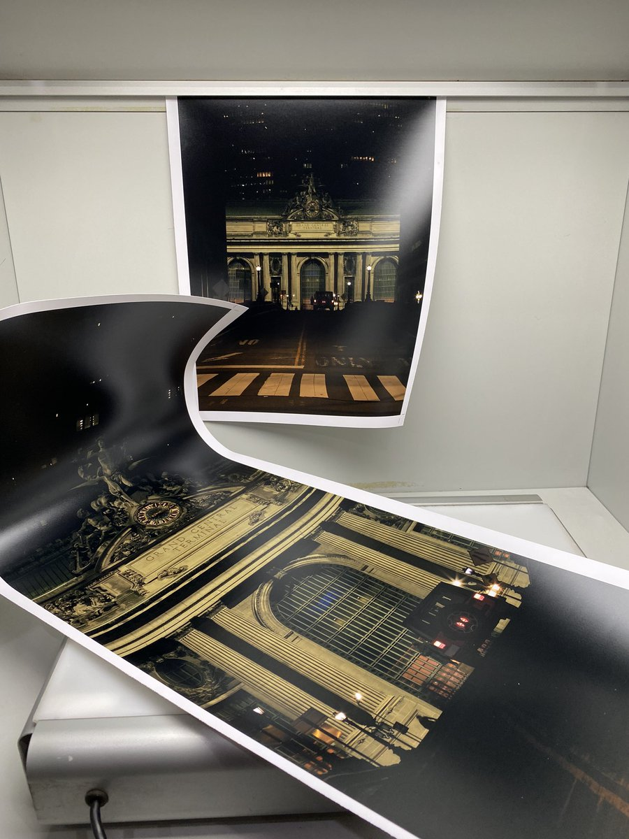 Test Prints make me happy especially when they're 48x50!! Getting ready for a shipment out to England this weekend!  ... #testprint #testprints #photoprinting #photoprints #photoprint #nightphotography #nightshooters #streetphotographers #streetphoto #covidcaptures #grandcentralpic.twitter.com/uPZDWYcZo1