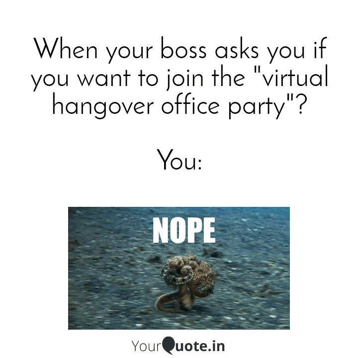 Missing memes? Let's have a hangover #memetime once again today.    Here comes #YQCM28.   Did you ever run from a situation saying Nope, like the octopus? #NopeOctopus Collab on this #YQMeme #AnimalMemes #CinemagraphMeme entries to #YQMT1322.    Get. Set. Meme it!pic.twitter.com/Yphk5e0see
