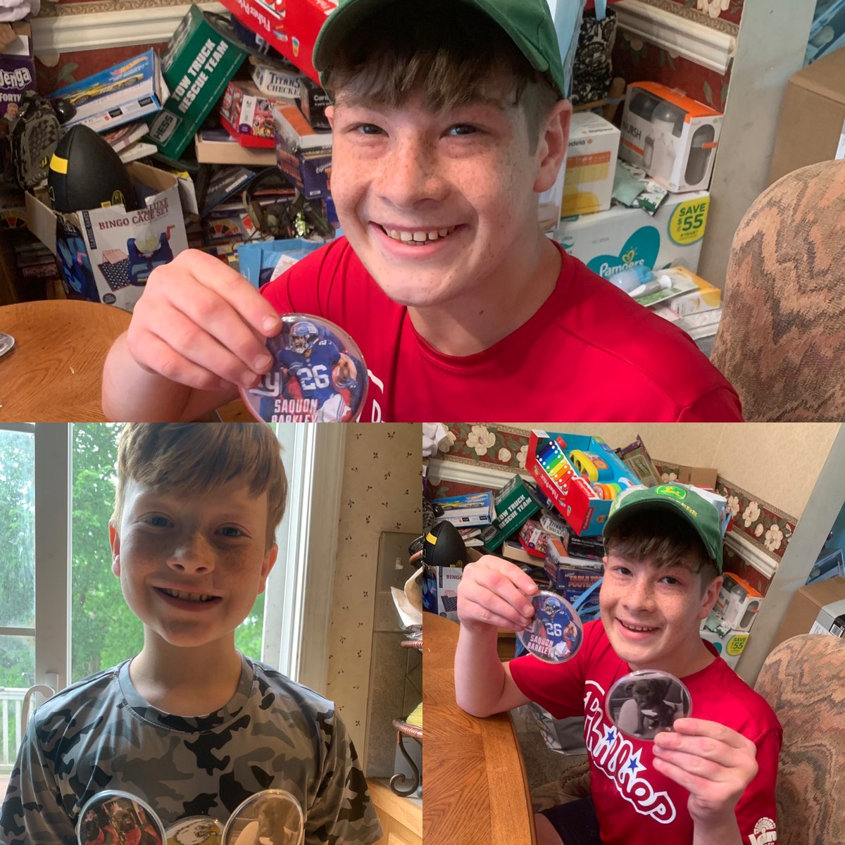 Happy campers sharing their homemade sports buttons! #magicofchildhood Great job guys! pic.twitter.com/8agUQutK7j