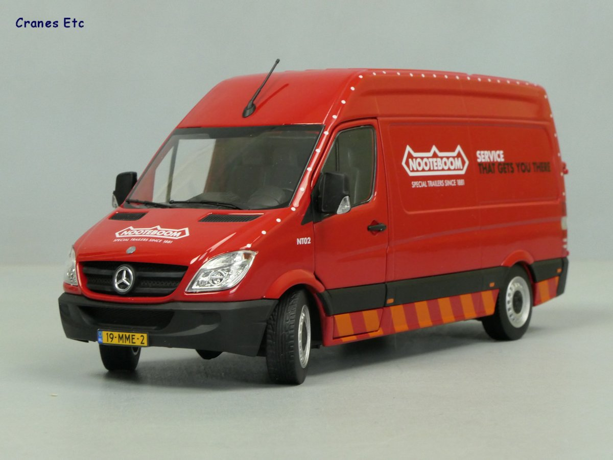 Mercedes-Benz Sprinter 'Nooteboom' http://www.CranesEtc.co.uk  #diecast #MercedesBenzpic.twitter.com/uf47umzSfL  by Cranes Etc