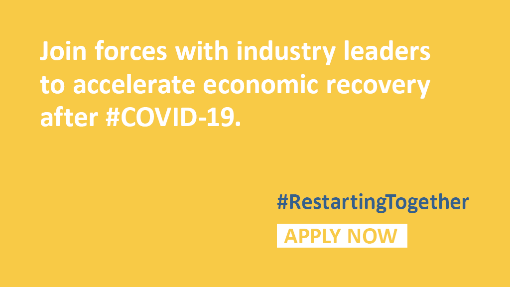We need innovative ideas to revamp our economies, enhance our cities, and move society forward. Join #RestartingTogether, a global effort supported by #Citi to turn these ideas into actionable solutions, by July 7: https://t.co/VWDa9vlqVd https://t.co/mY9XBxceOD