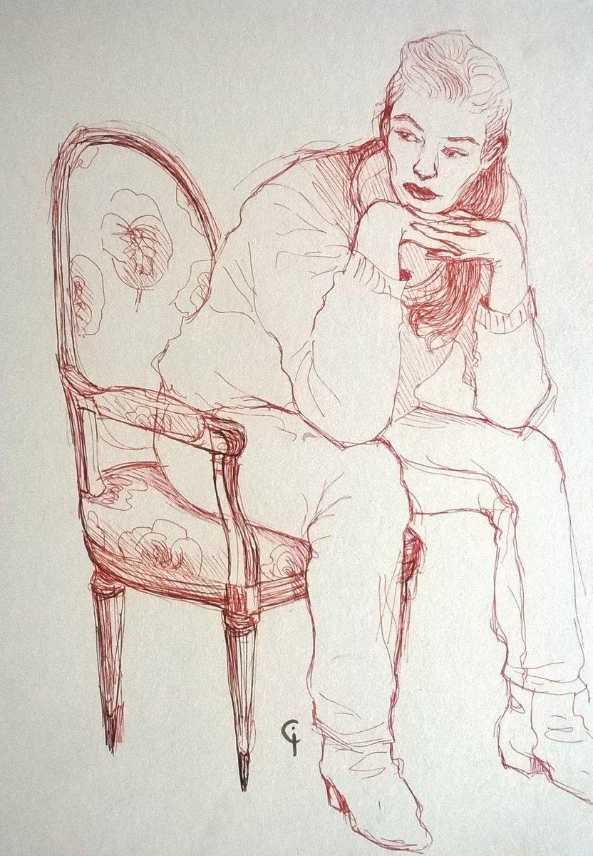Séance de croquis hier soir chez Olivier ! Merci à tous  #croquis #sketches  #modelevivant #portrait #drawing #kraftsketchbook #isacochet https://t.co/8k9tw9QExy