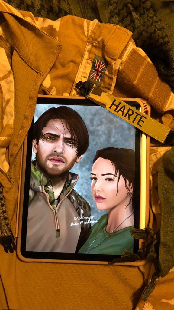 HarteSquad, save 2020, #BringBackElvis @TonyGrounds   [portrait of @lucapasqualino and @michkeegan as SAS Captain #ElvisHarte, and Sergeant #GeorgieLane, from an original animation]   (@Procreate #digitalart #portrait #bbcourgirl #michellekeegan #lucapasqualino #lukepasqualino) https://t.co/B1Yxw9oeZb
