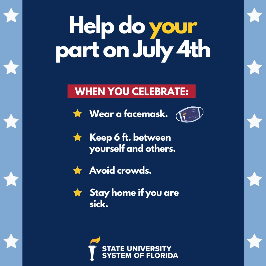 Help do your part on July 4th! Below are some helpful reminders to celebrate safely this weekend.