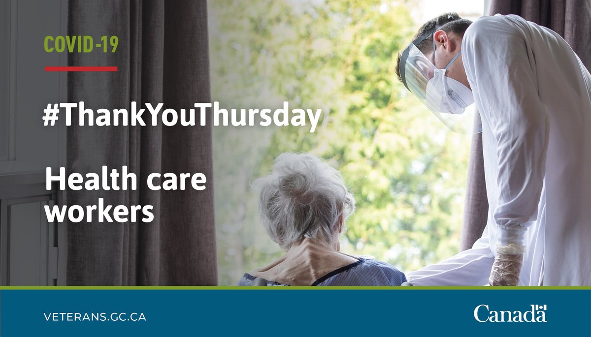 To healthcare workers, thank you for your service to Canada and for keeping us all safe #ThankyouThursday #COVID19 https://t.co/srIV953KeZ