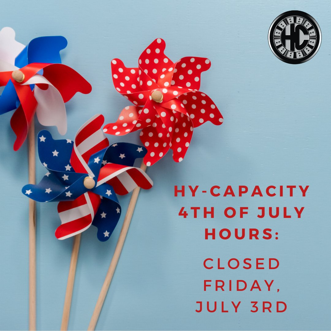 Hy-Capacity will be closed tomorrow, July 3rd for Independence Day! What is your favorite 4th of July tradition? #4thofJuly  Shop for #HeavyDutyTractorParts now at https://www.hy-capacity.com/ !  #HyCap #TractorParts #HyCapacity #AgParts #Farming #Tractors #Tractorlife pic.twitter.com/26FCQtMAwz