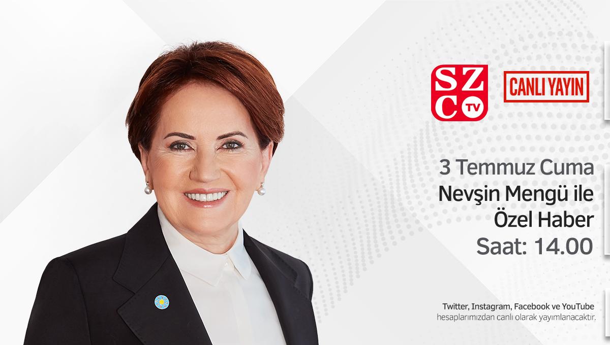 🗓️ 3 Temmuz Cuma (yarın) 🕑 14.00   Sözcü TV'de @nevsinmengu'nün sorularını yanıtlıyorum.   İlgilenen herkesi bekliyorum.   Canlı yayını sosyal medya hesaplarımdan da takip edebilirsiniz. https://t.co/IAhPPzCHwf