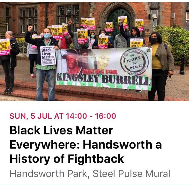 Join us in Sunday 5th at 2pm #handsworth #birmingham #taketheknee #blacklivesmatter #handsworthrevolution #steelpulse #ICantBreathe #justiceforkingsley #windrush #nojusticenopeace @antiracismday https://t.co/0VYiktwYQs