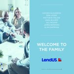 Image for the Tweet beginning: Welcome to the family! #lendusfam