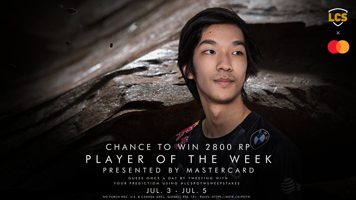 Friday Night League closes with @cloud9 vs @clgaming, will any of these players make a POTW claim? Tweet us your Week 4 #LCS POTW prediction using #LCSPOTWsweepstakes for a chance to win 2800 RP. No Purch Nec. U.S./Canada (excl. Quebec) res. 18+. Rules: mstr.cd/POTW