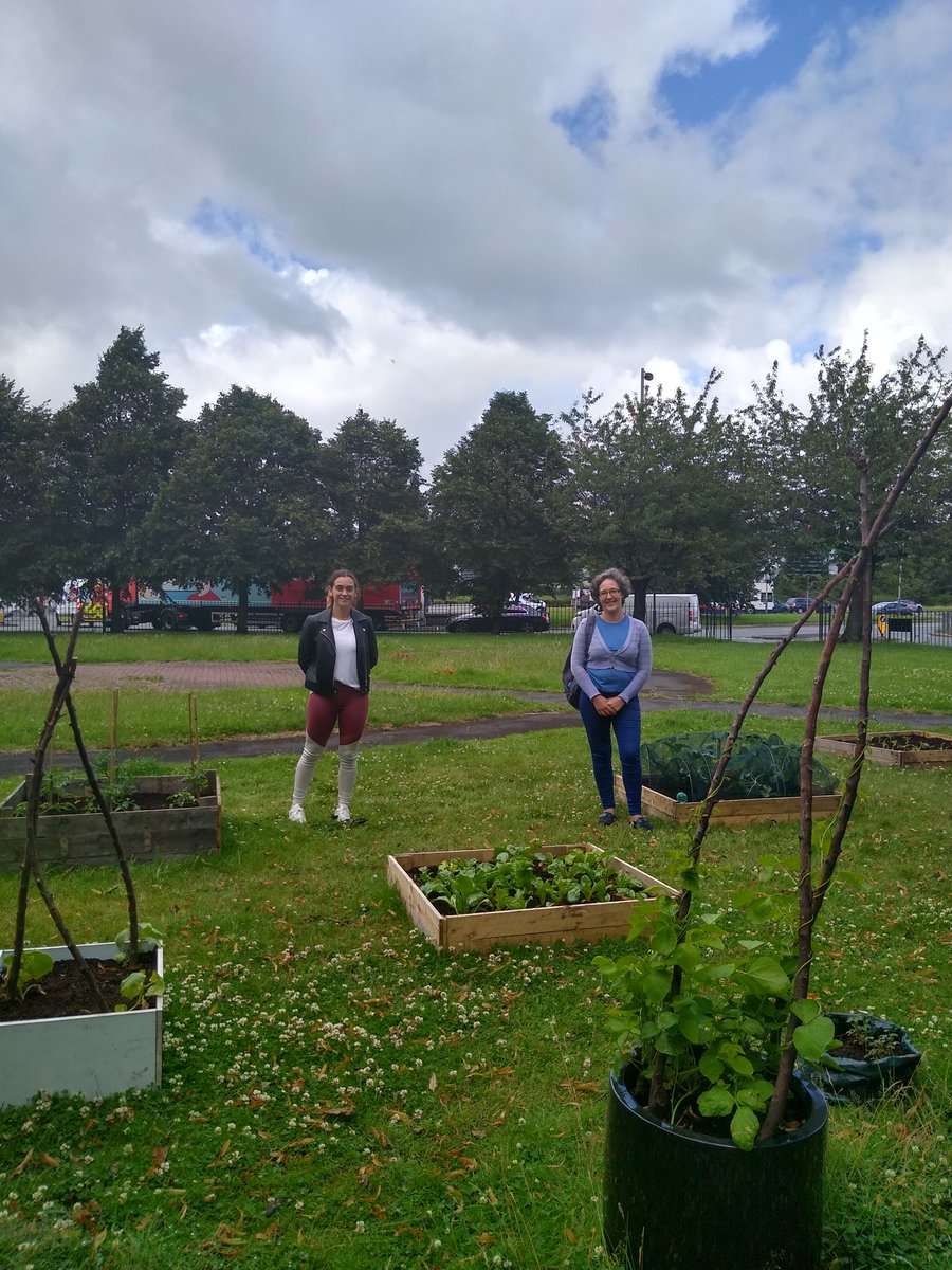 After all the exercise it was nice to #BeCalm & visit @croxtethgarden today. Thanks to Rachael & Kirsty for showing me round. Rachael started the garden in February & its already full of veggies! Theyre always looking for #volunteers to garden & build wooden plant beds