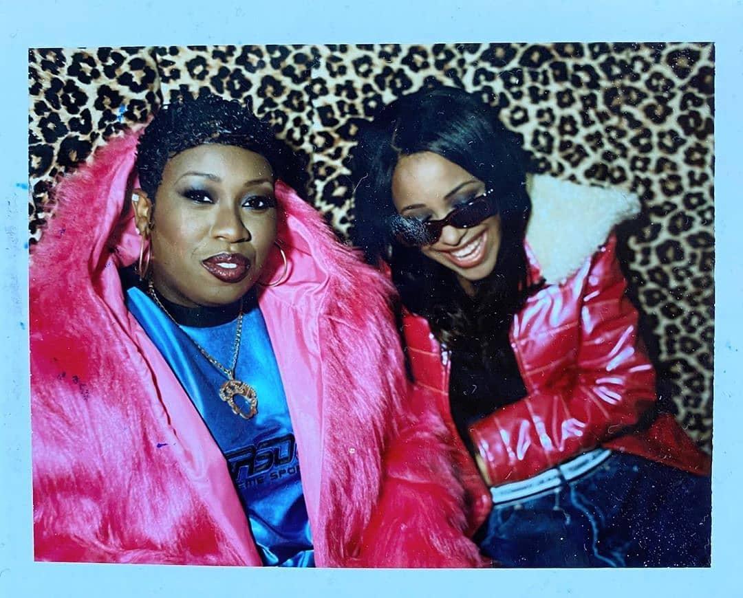 Aaliyah Archives: #Aaliyah & #MissyElliott: Rare Photo Courtesy of #BenWatts  #TeamAaliyah