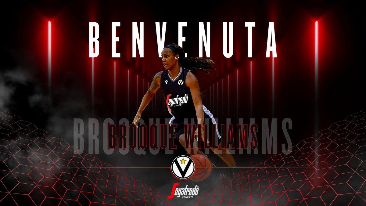 Welcome  Brooque Williams ⚪️⚫️💪🏻  Brooque Williams è una nuova giocatrice della Virtus Segafredo Femminile! 💯🏀  Benvenuta!  #virtuspride #VirtusFemminile https://t.co/eXOa3M4ZZo