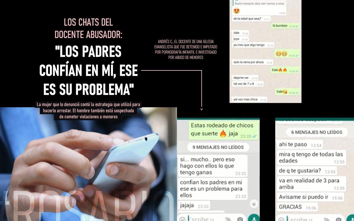 """📲🚔⚖ #Justicia #Rosario    Los chats del docente abusador: """"Los padres confían en mí, ese es su problema"""" https://t.co/wa3WGyeBPN https://t.co/UBisqiTPe4"""